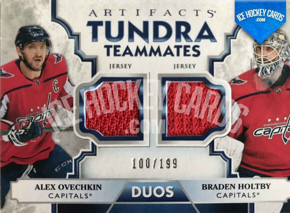 Upper Deck - Artifacts 19-20 - Alexander Ovechkin - Braden Holtby - Tundra Teammates Jersey Card #100