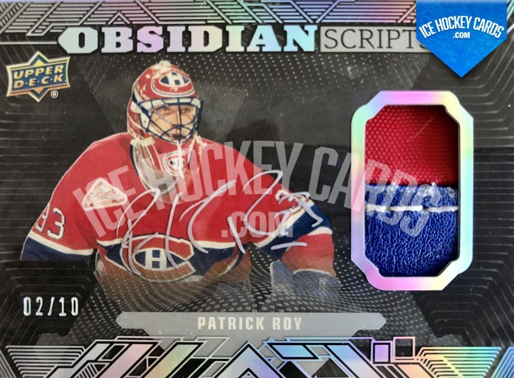Upper Deck - Black Diamond 17-18 - Patrick Roy Obsidian Scripts Auto Jersey RARE 2 of 10