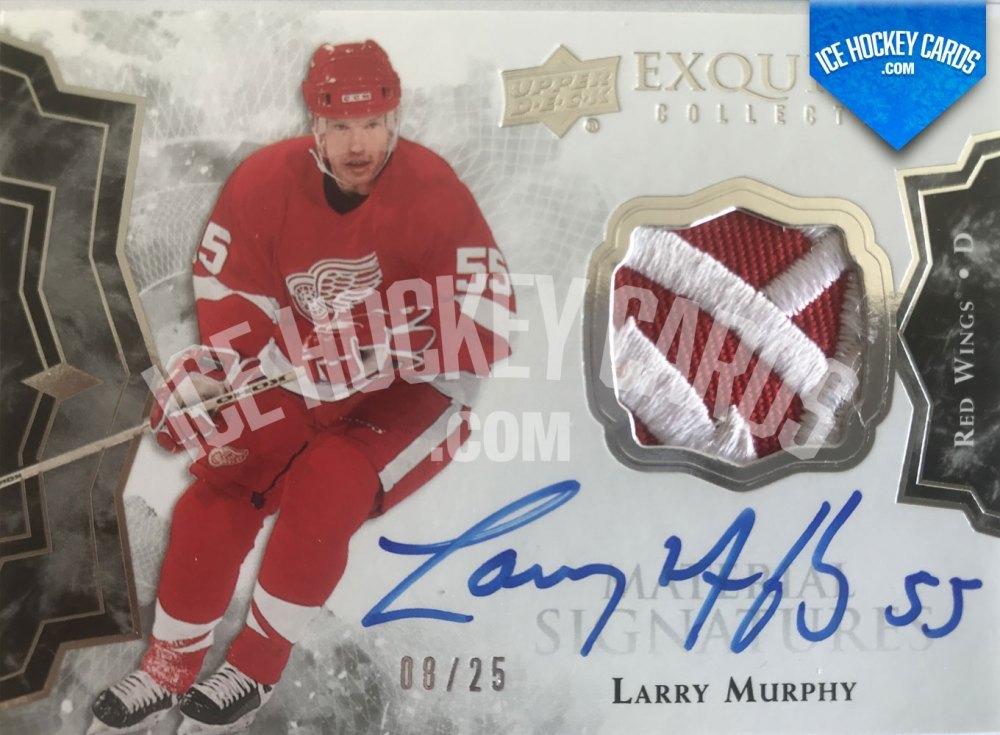 Upper Deck - Black Diamond 19-20 - Larry Murphy Exquisite Collection Autographed Premium Patch Card 8 of 25