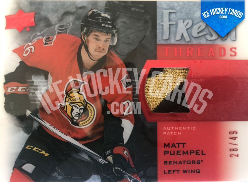 Upper Deck - ICE 15-16 - Matt Puempel Fresh Threads Rookie Patch Red RC 28 of 49