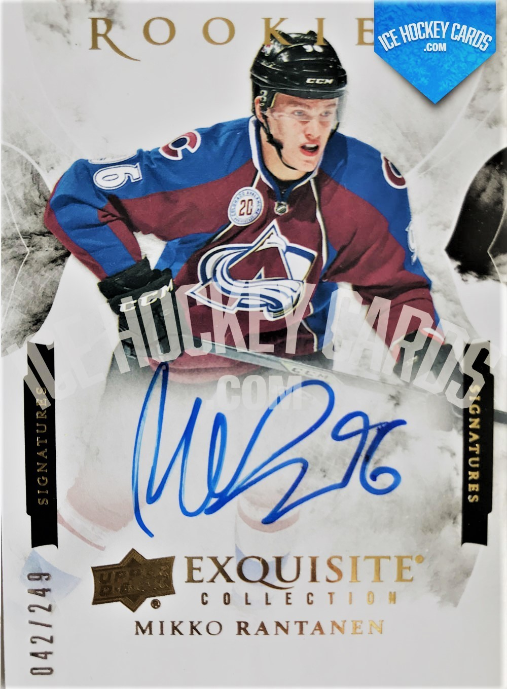Upper Deck - 15-16 - Mikko Rantanen Exquisite Collection Rookies Signatures