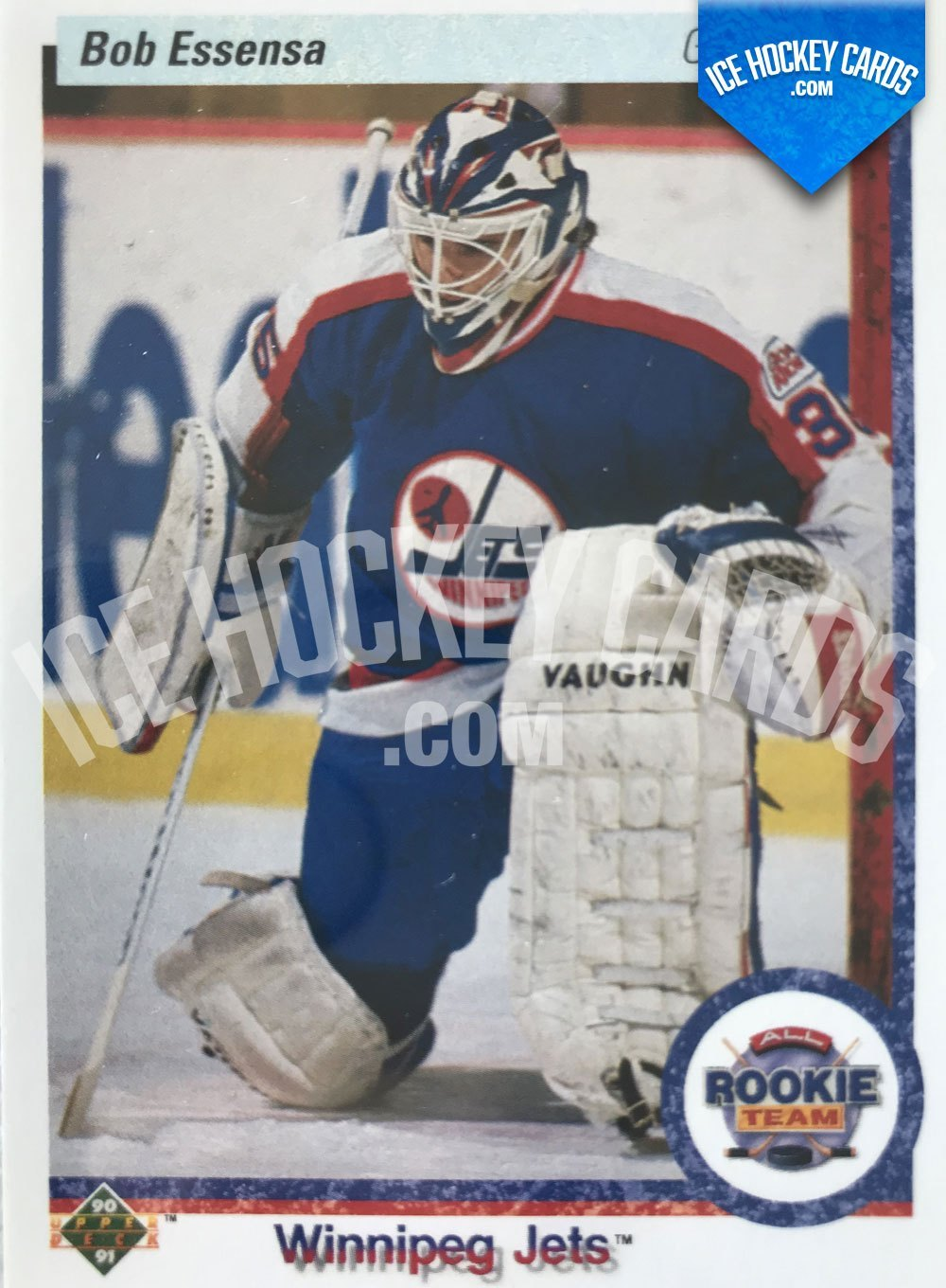 Upper Deck - 90-91 - Bob Essensa All Rookie Team Card