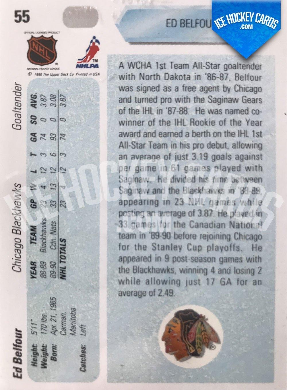 Upper Deck - 90-91 - Ed Belfour Star Rookie Card back