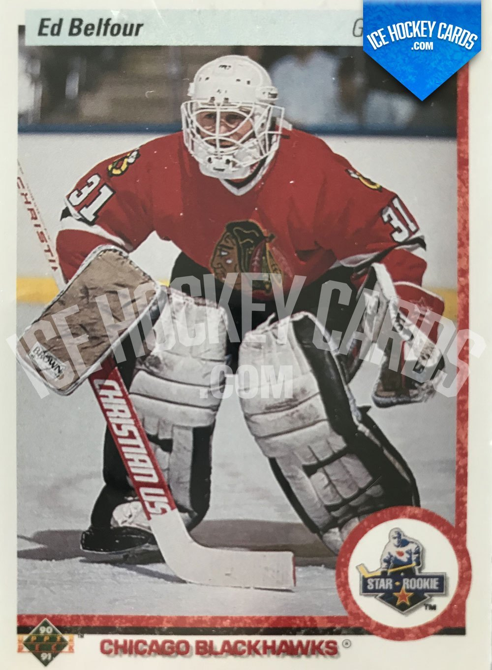 Upper Deck - 90-91 - Ed Belfour Star Rookie Card