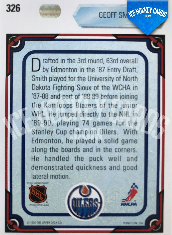Upper Deck - 90-91 - Geoff Smith All Rookie Team Card back