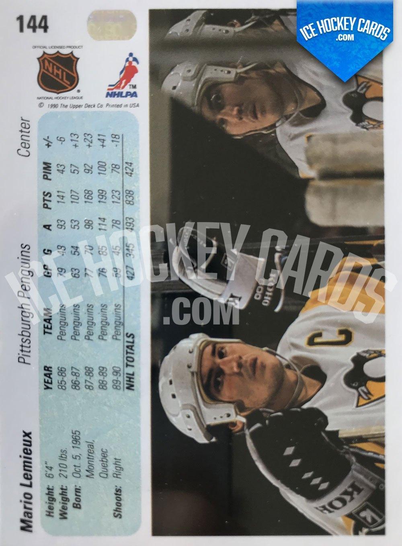 Upper Deck - 90-91 - Mario Lemieux Base Card back