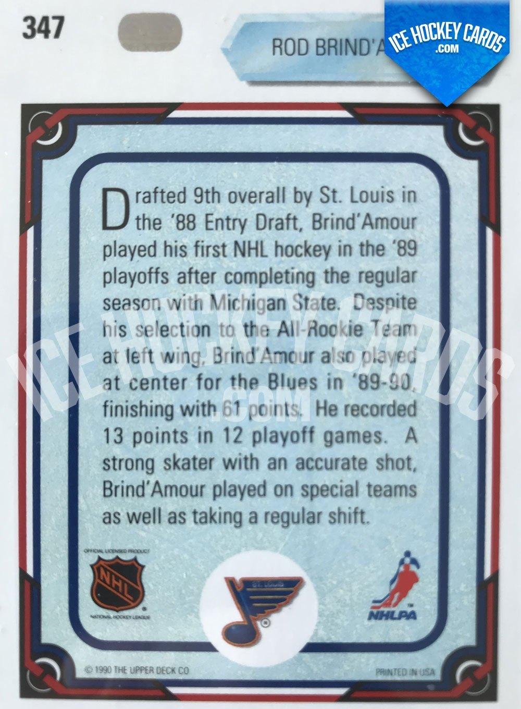 Upper Deck - 90-91 - Rod Brind' Amour All Rookie Team Card back