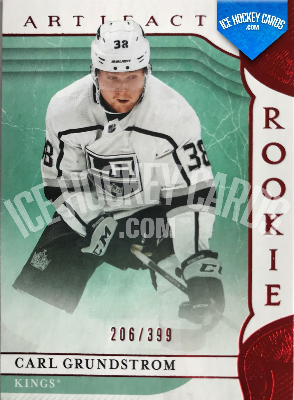 Upper Deck - Artifacts 19-20 - Carl Grundstrom Rookie Ruby Parallel Card