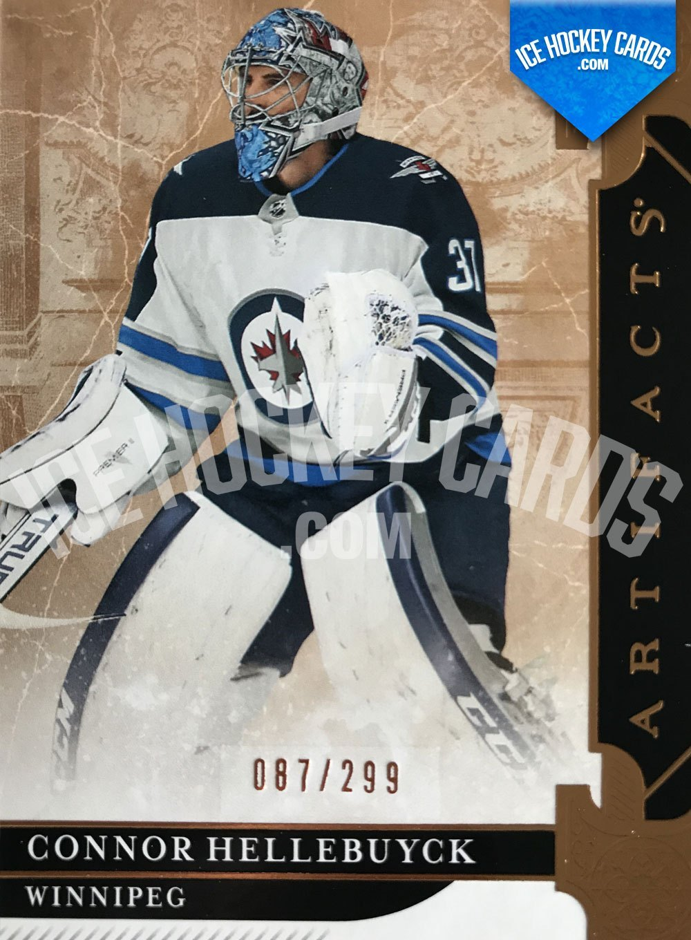 Upper Deck - Artifacts 19-20 - Connor Hellebuyck Parallel Gold Card