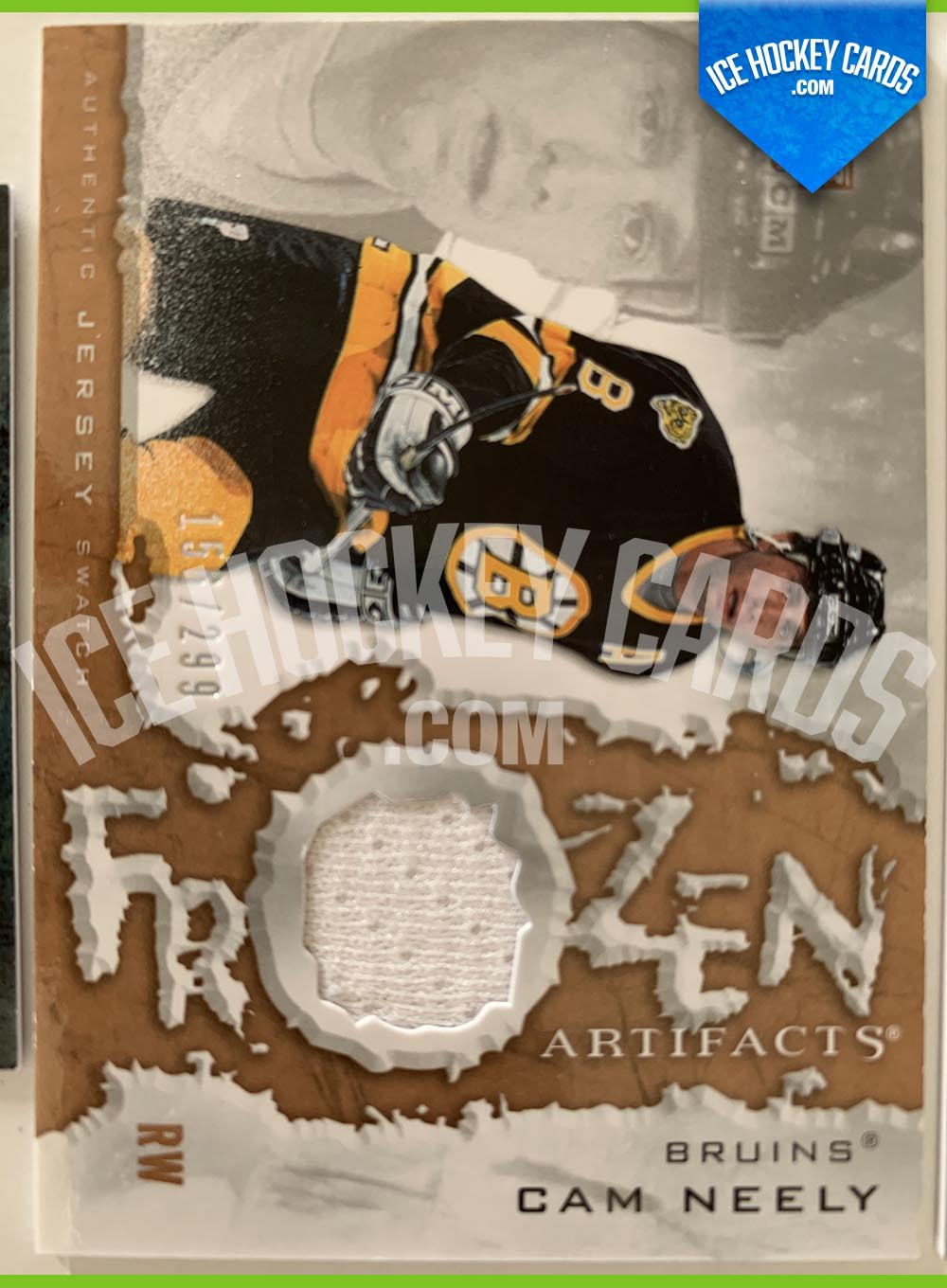 Upper Deck - Artifacts 2007-08 - Cam Neely Frozen Artifacts Authentic Jersey Swatch Card