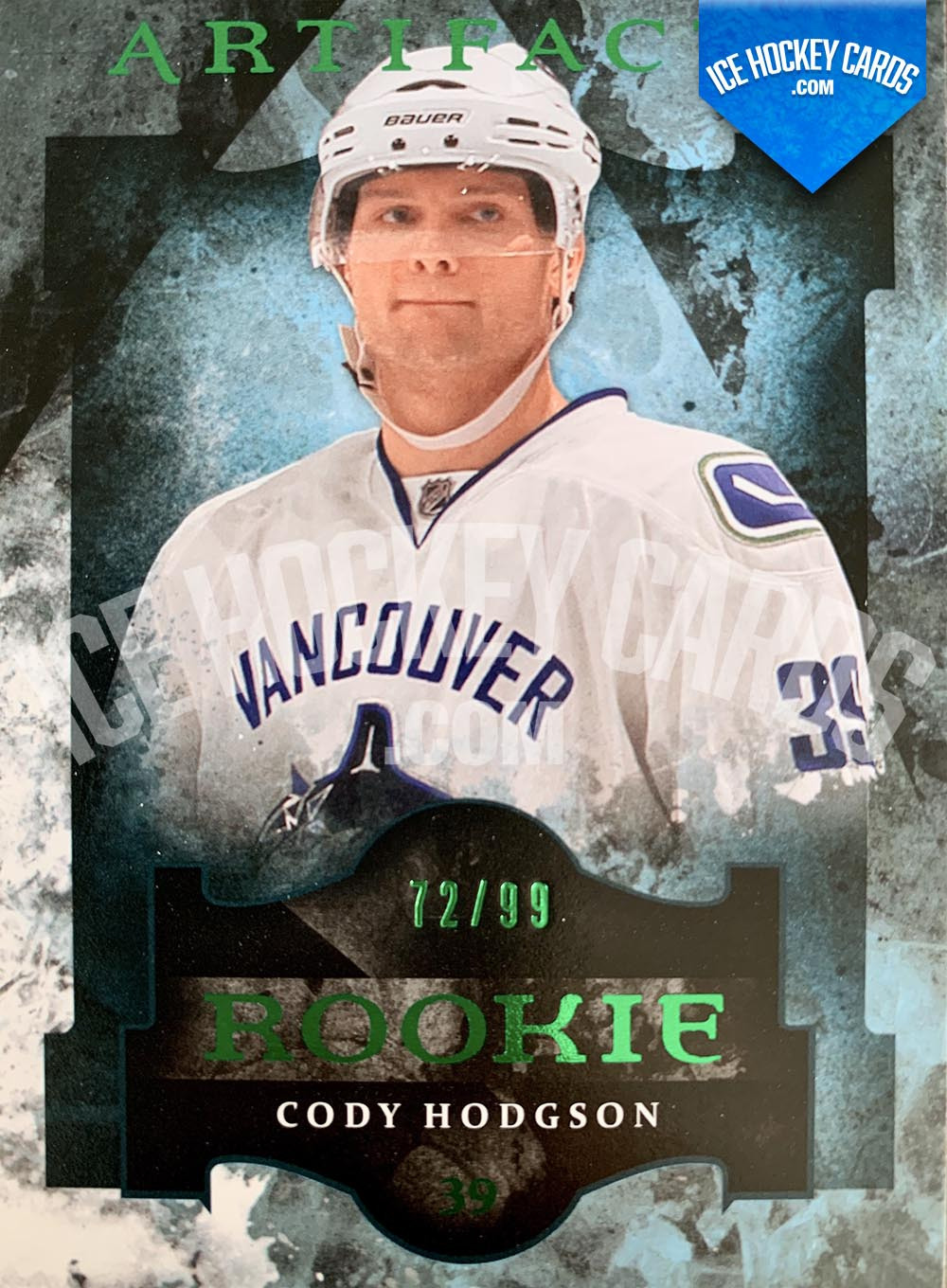 Upper Deck - Artifacts 2011-12 - Cody Hodgson Green Rookie Card # to 99