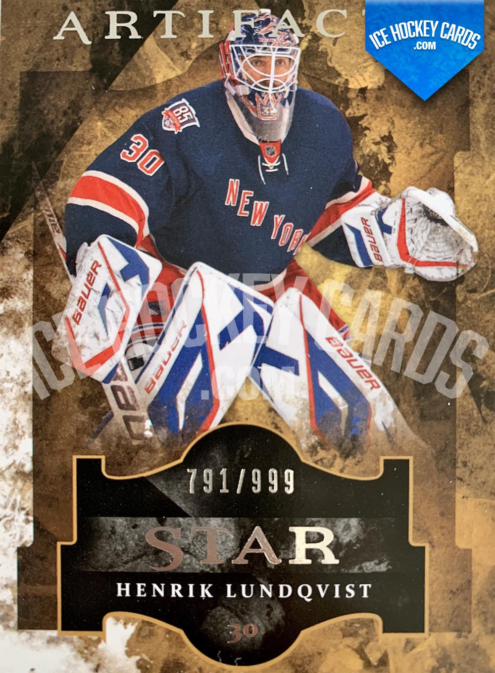 Upper Deck - Artifacts 2011-12 - Henrik Lundqvist Star Card