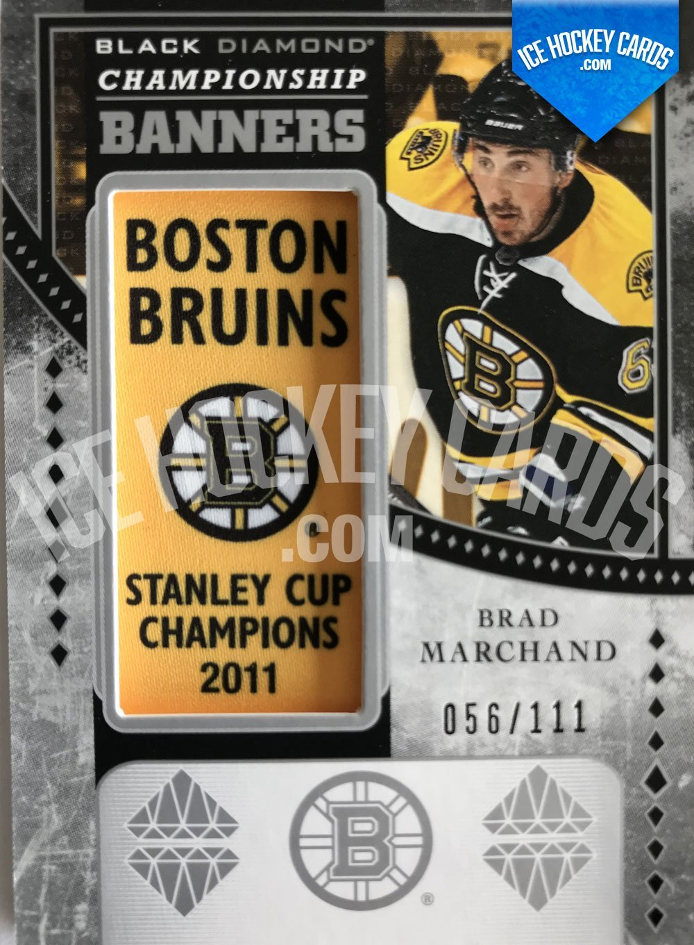 Upper Deck - Black Diamond 19-20 - Brad Marchand Championship Banners Boston Bruins 2011