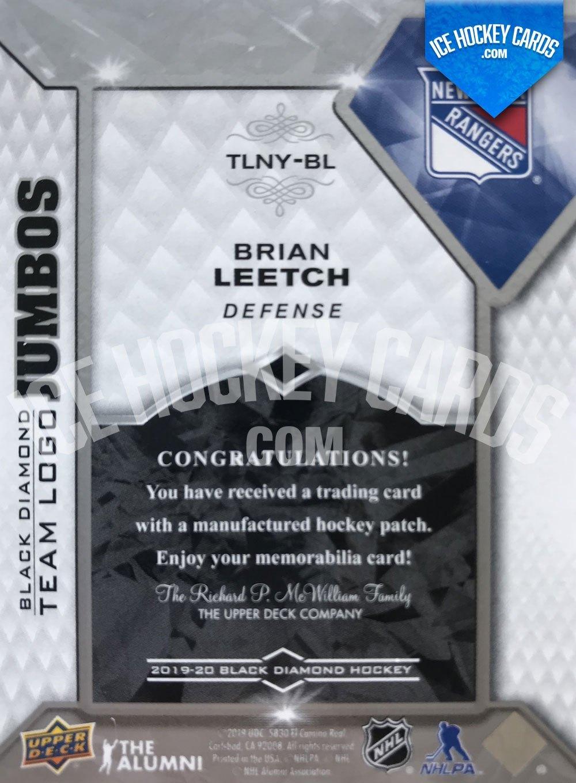 Upper Deck - Black Diamond 19-20 - Brian Leetch Team Logo Premium Jumbos back