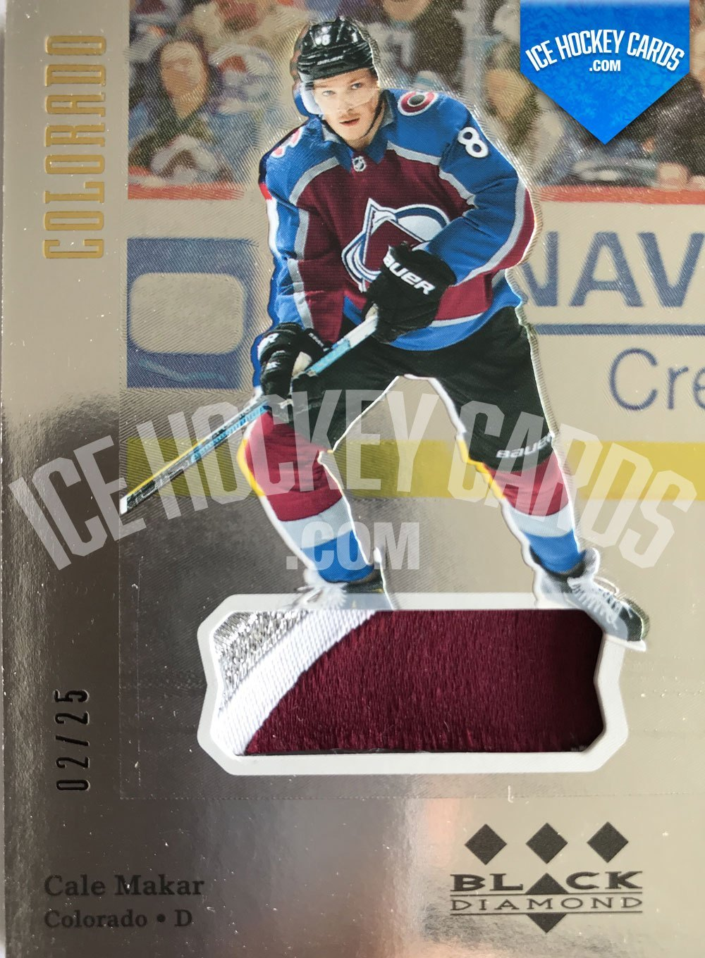 Upper Deck - Black Diamond 19-20 - Cale Makar Retro Tribute Materials Rookie Card 2 of 25 RARE