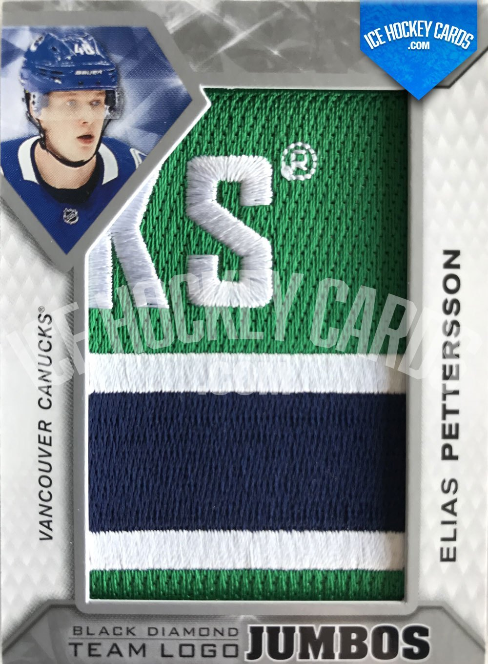 Upper Deck - Black Diamond 19-20 - Elias Pettersson Team Logo Jumbos
