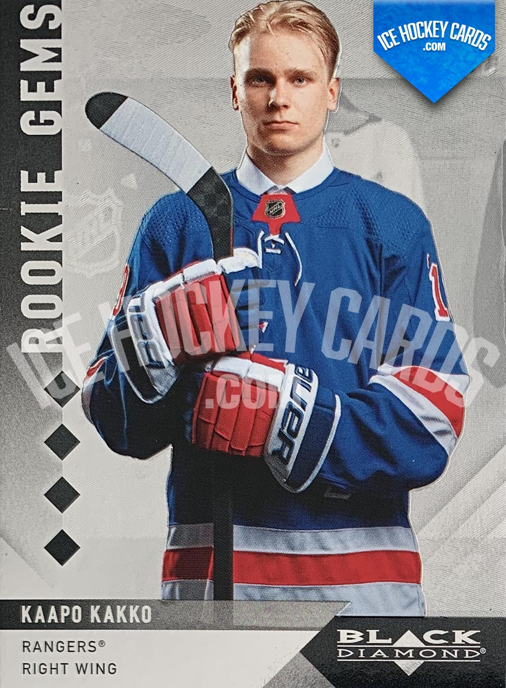 Upper Deck - Black Diamond 2019-20 - Kaapo Kakko Rookie Gems Quadruple Diamonds Retro RC # to 99