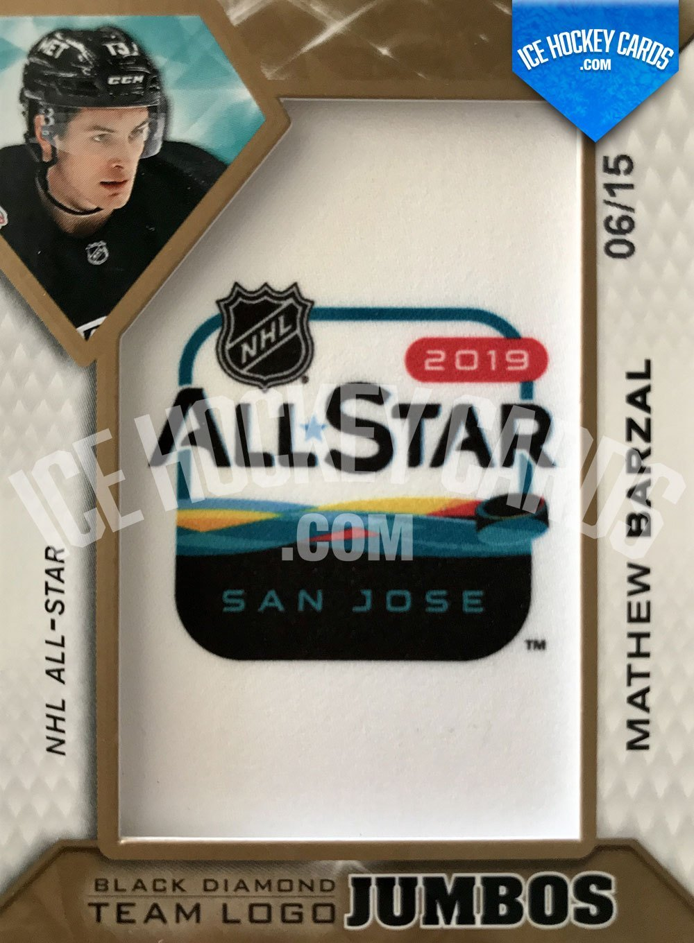 Upper Deck - Black Diamond 2019-20 - Mathew Barzal All-Star Team Logo Jumbos up to 15 cards RARE