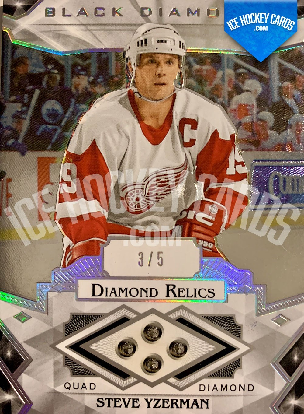 Upper Deck - Black Diamond 2019-20 - Steve Yzerman Quad Diamond Relics Card 3 to 5 SUPER RARE