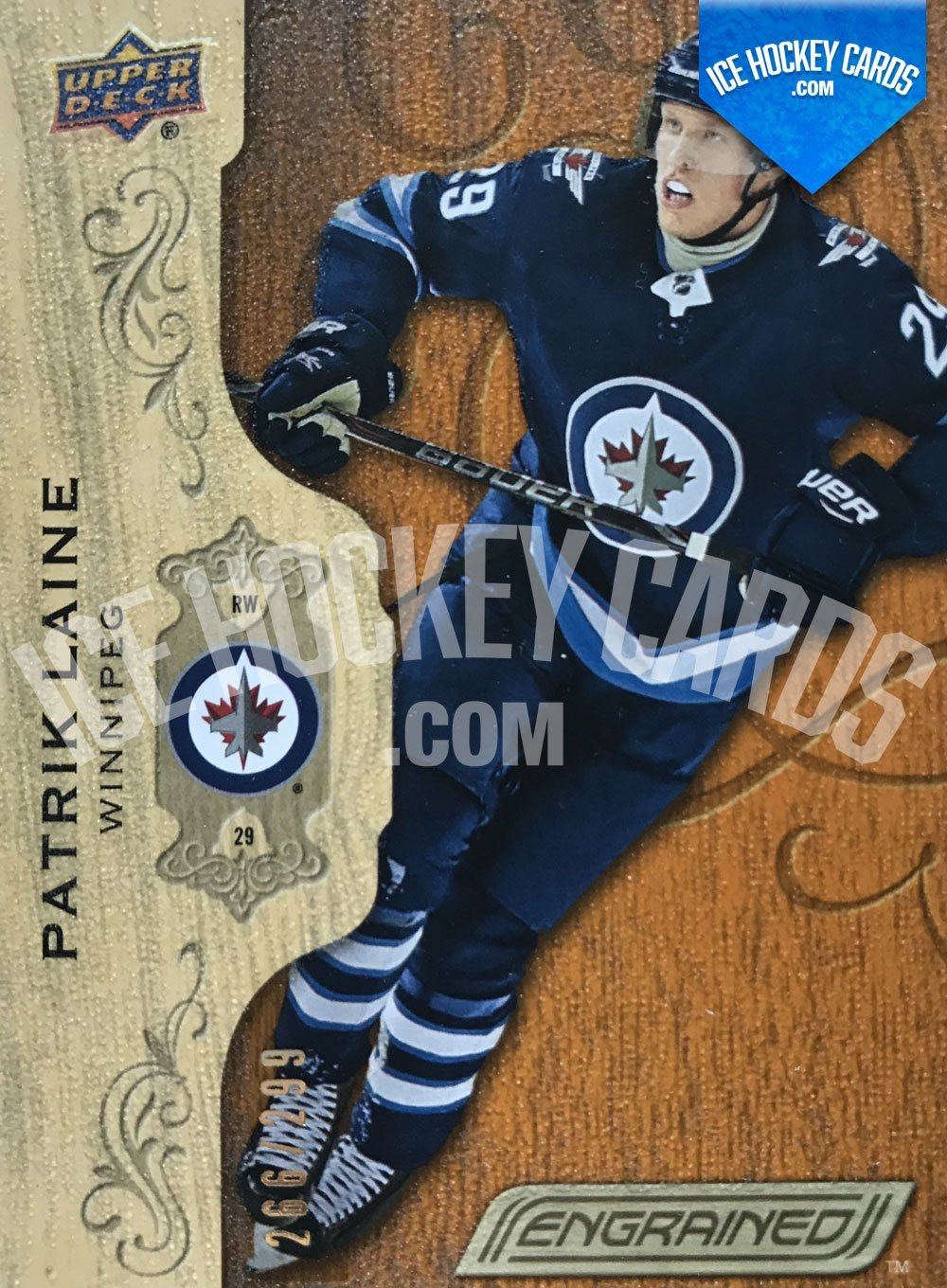 Upper Deck - Engrained 18-19 - Patrik Laine Base Card