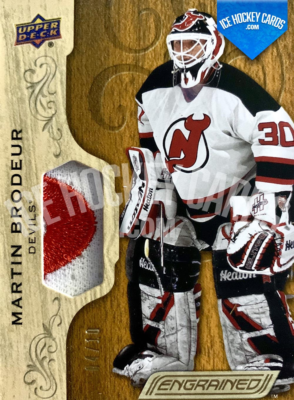 Upper Deck - Engrained 2018-19 - Martin Brodeur Patch Card # to 10 RARE