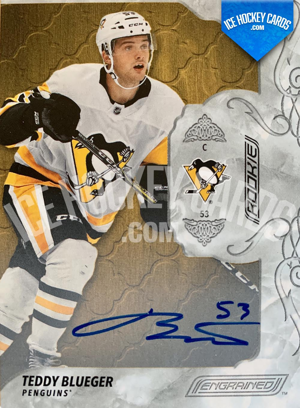 Upper Deck - Engrained 2019-20 - Teddy Blueger Autographed Rookie Card
