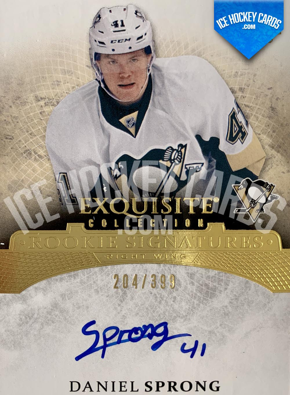 Upper Deck - Exquisite Collection 2015-16 - Daniel Sprong Rookie Signatures Auto Card