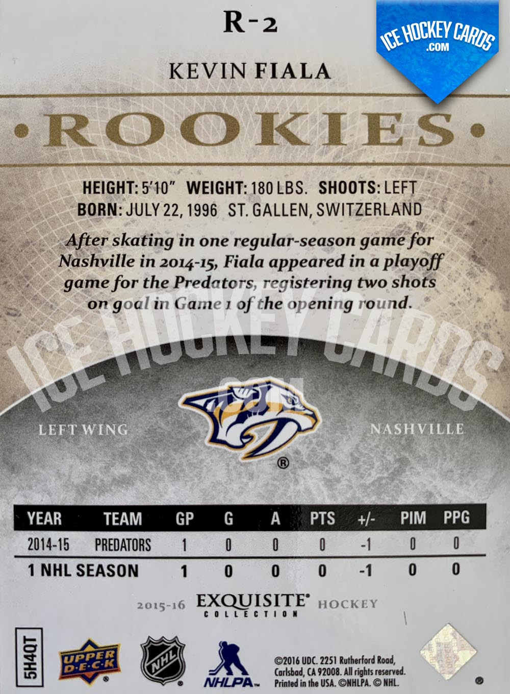 Upper-Deck-Exquisite-Collection-2015-16-Kevin-Fiala-Exquisite-Collection-Rookies-Card-back