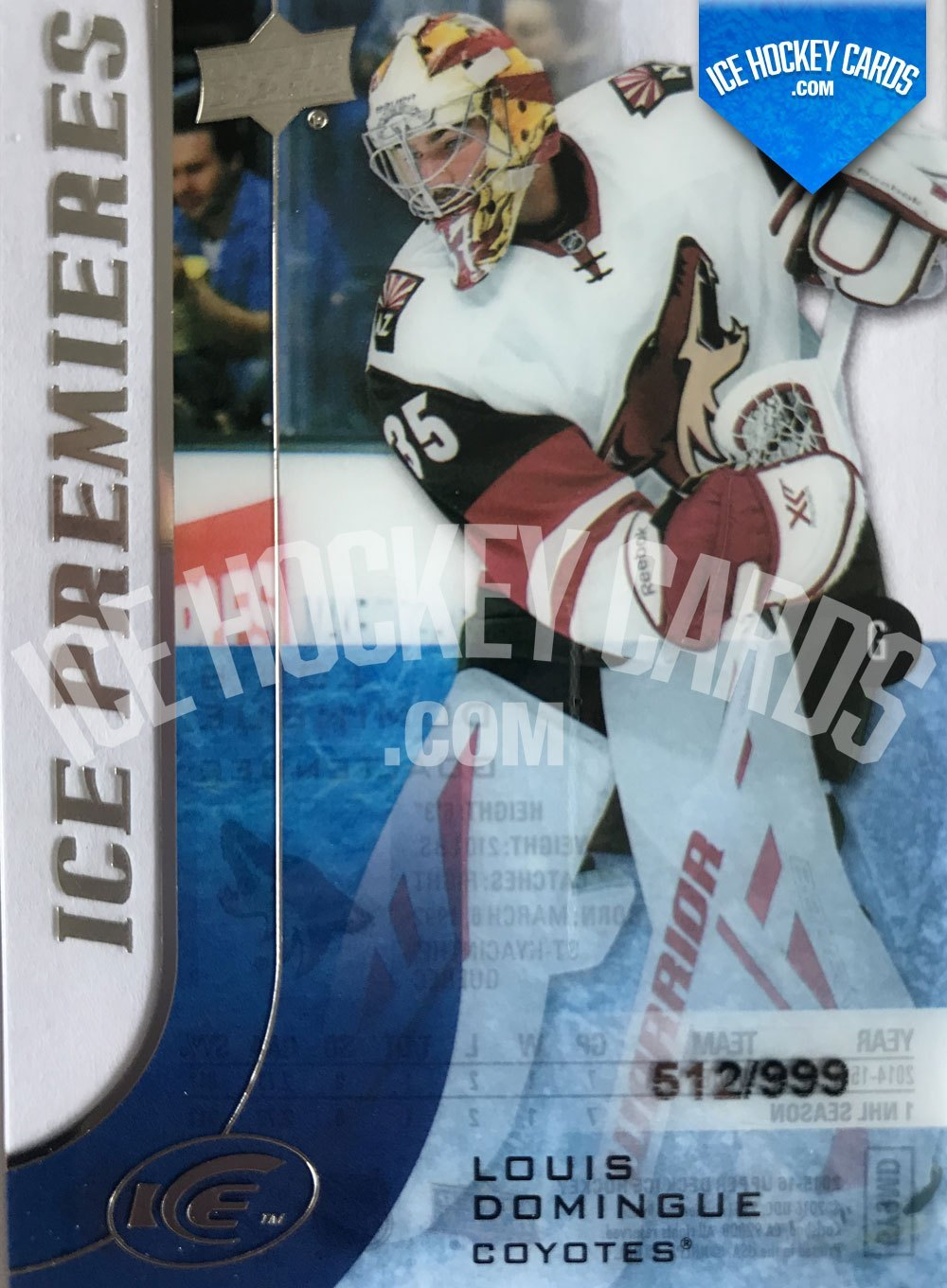 Upper Deck - ICE 15-16 - Louis Domingue ICE Premieres RC