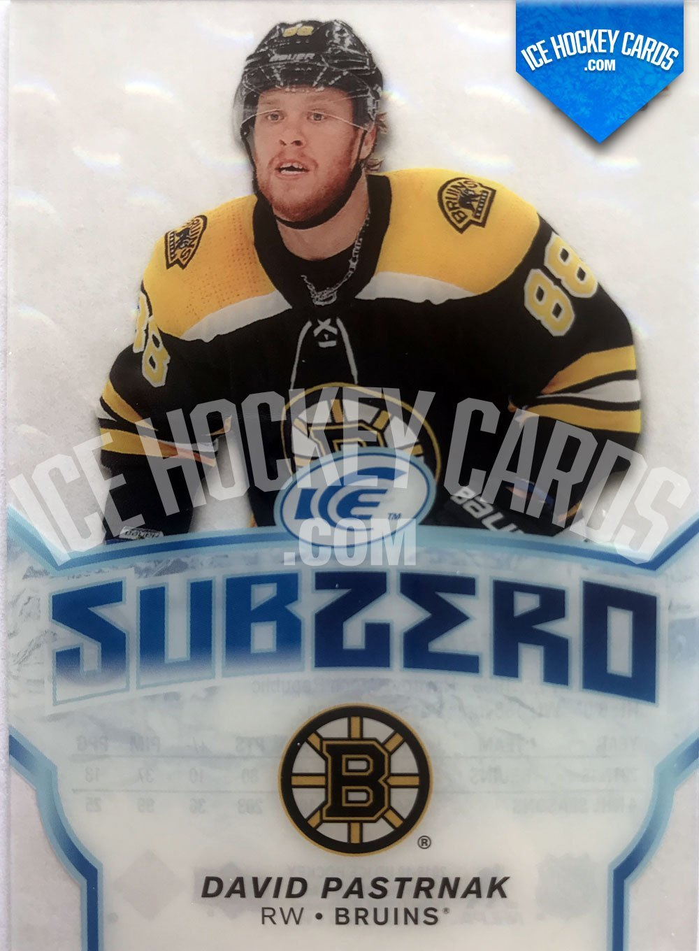 Upper Deck - ICE 18-19 - David Pastrnak Subzero Card