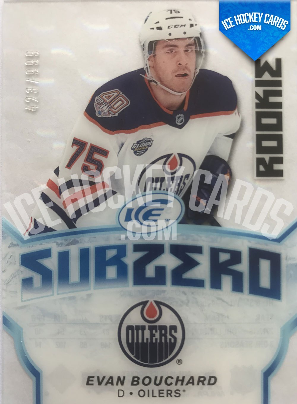 Upper Deck - ICE 18-19 - Evan Bouchard Subzero Rookie Card