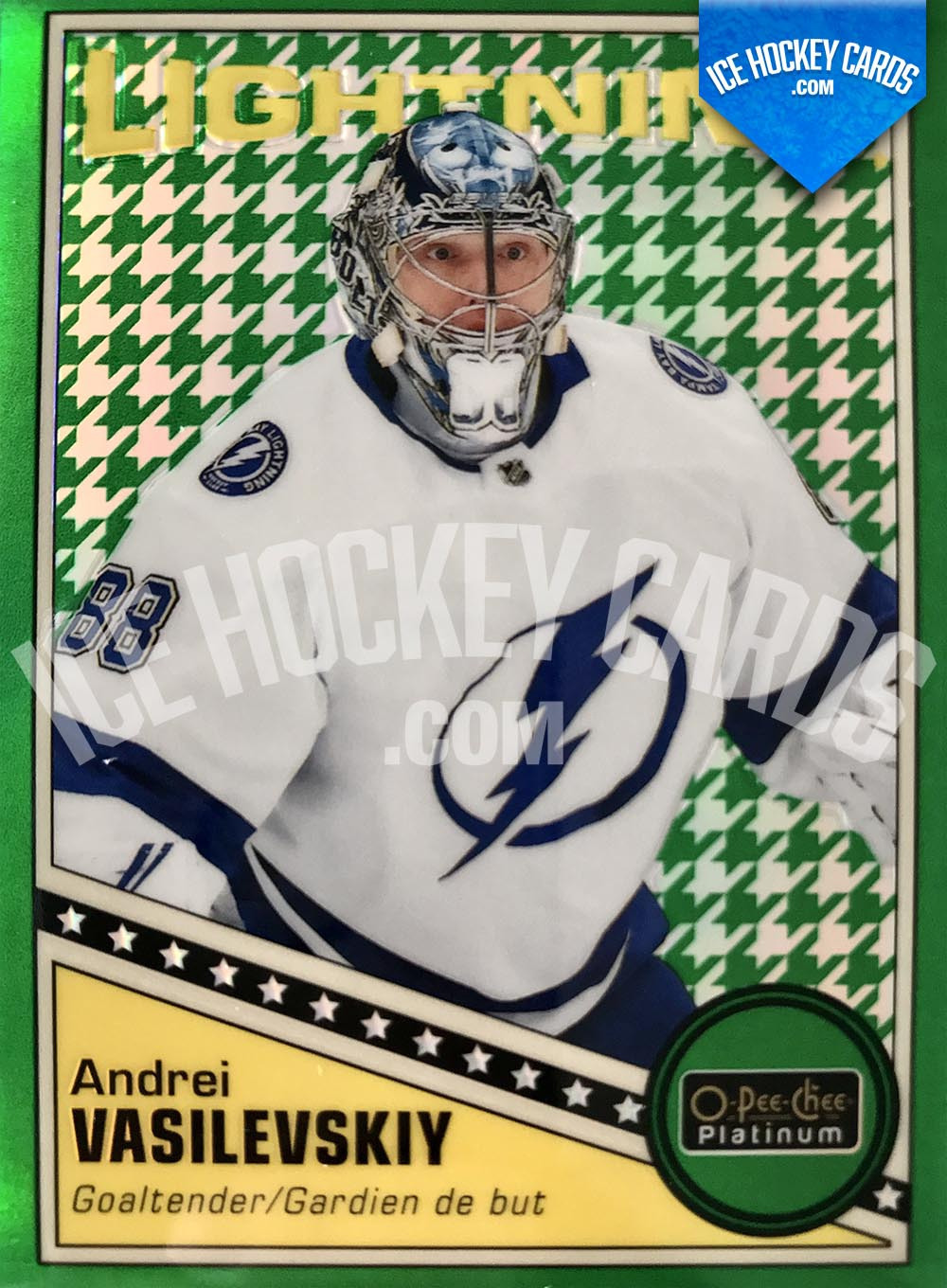 Upper Deck - OPC Platinum 2019-20 - Andrei Vasilevskiy Green Houndstooth Retro Card # to 15 RARE