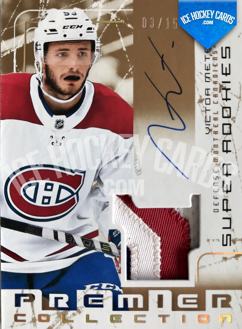 Upper Deck - Premier Hockey 2017-18 - Victor Mete Super Rookies Auto Patch RC - # to 15 RARE
