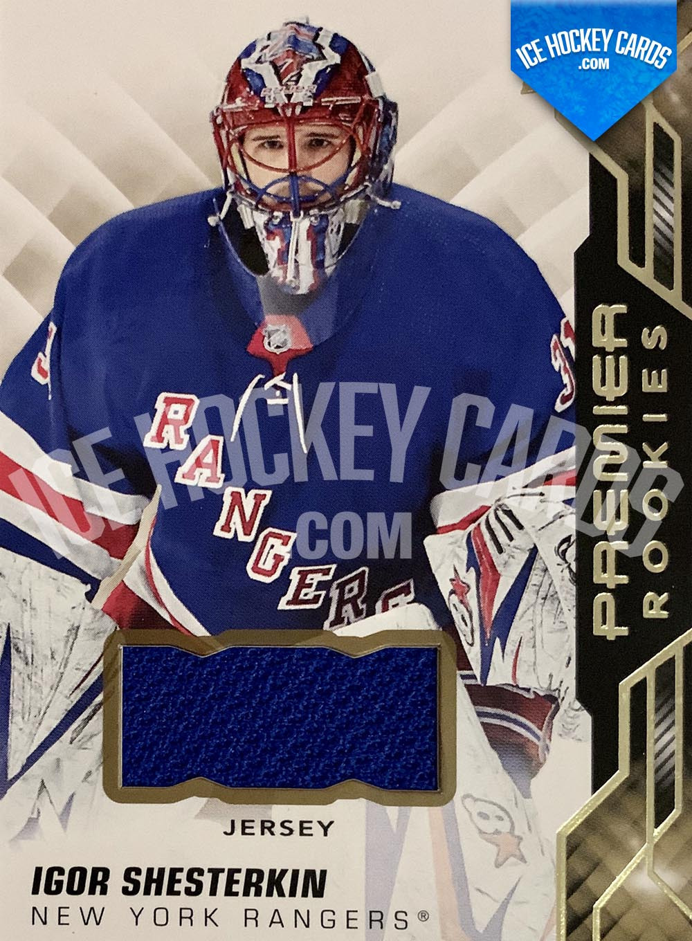 Upper Deck - Premier Hockey 2019-20 - Igor Shesterkin Premier Rookies Patch Card