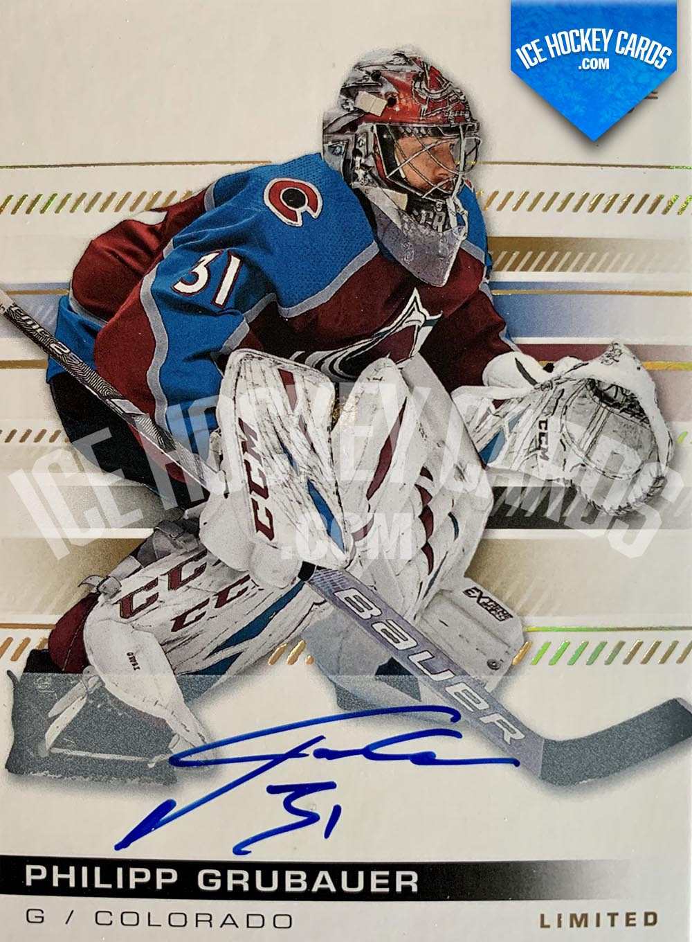 Upper Deck - SP Authentic 2019-20 - Philipp Grubauer Limited Autograph