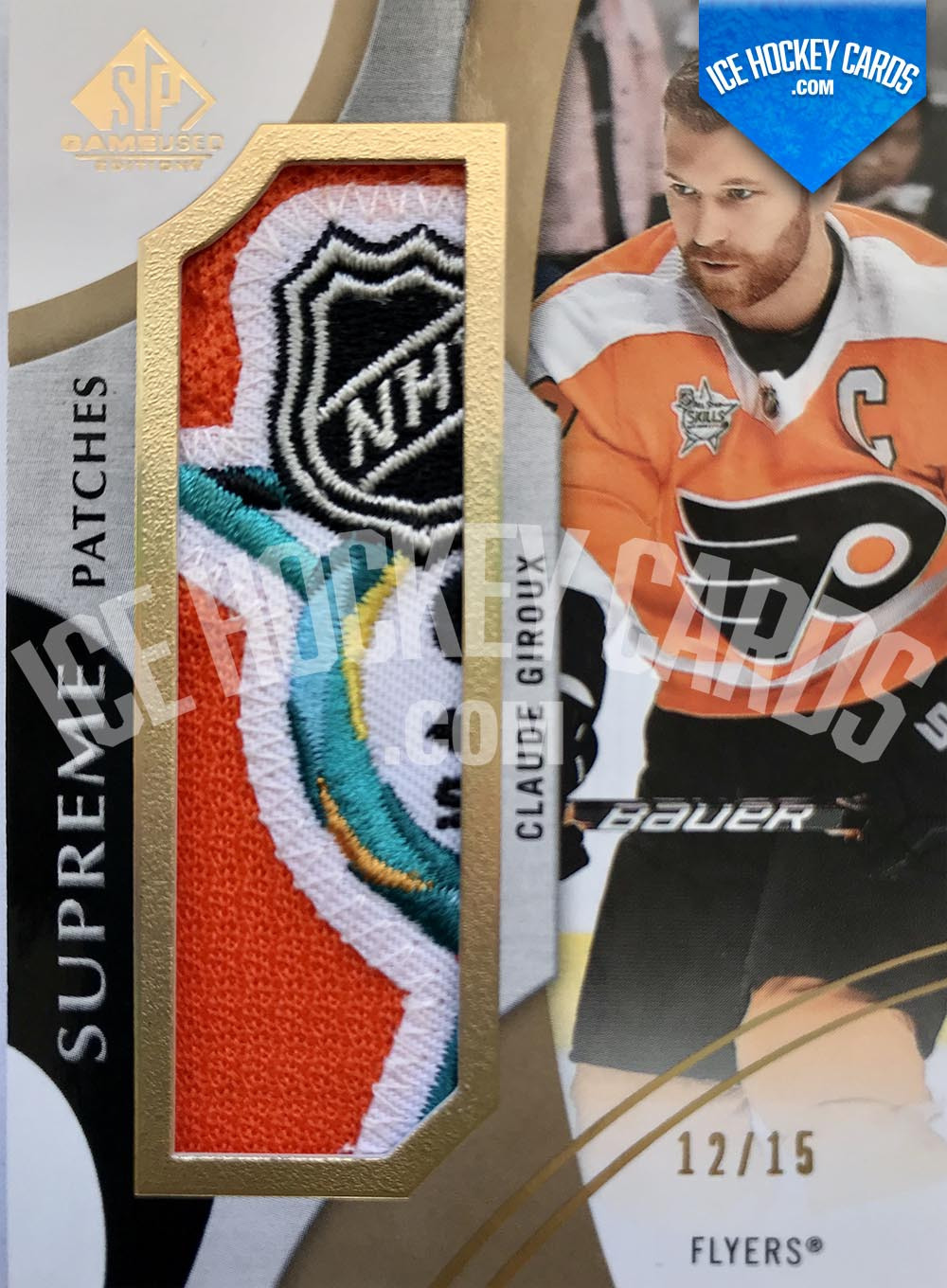Upper Deck - SP Game Used 2019-20 - Claude Giroux Supreme Patches 6 colours # to 15 SUPER RARE