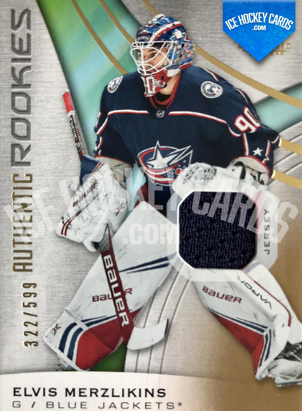 Upper Deck - SP Game Used 2019-20 - Elvis Merzlikins Authentic Rookies Patch Card
