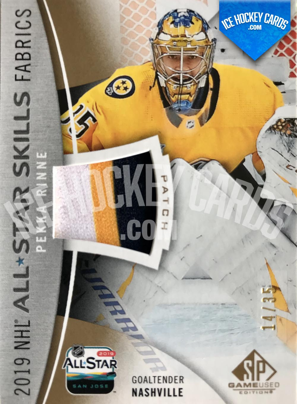 Upper Deck - SP Game Used 2019-20 - Pekka Rinne 2019 NHL All Star Skills Fabrics Patch Card # to 35 RARE