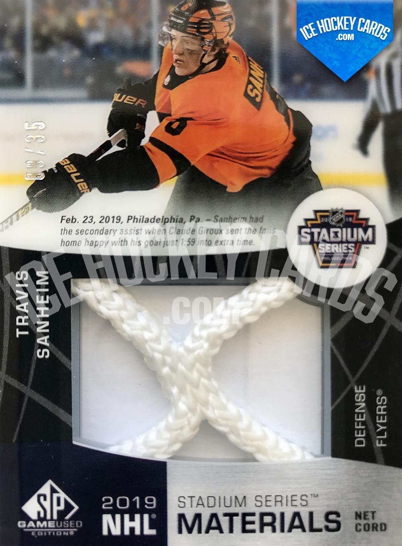 Upper Deck - SP Game Used 2019-20 - Travis Sanheim 2019 NHL Stadium Series Materials Net Cord # up 35 RARE