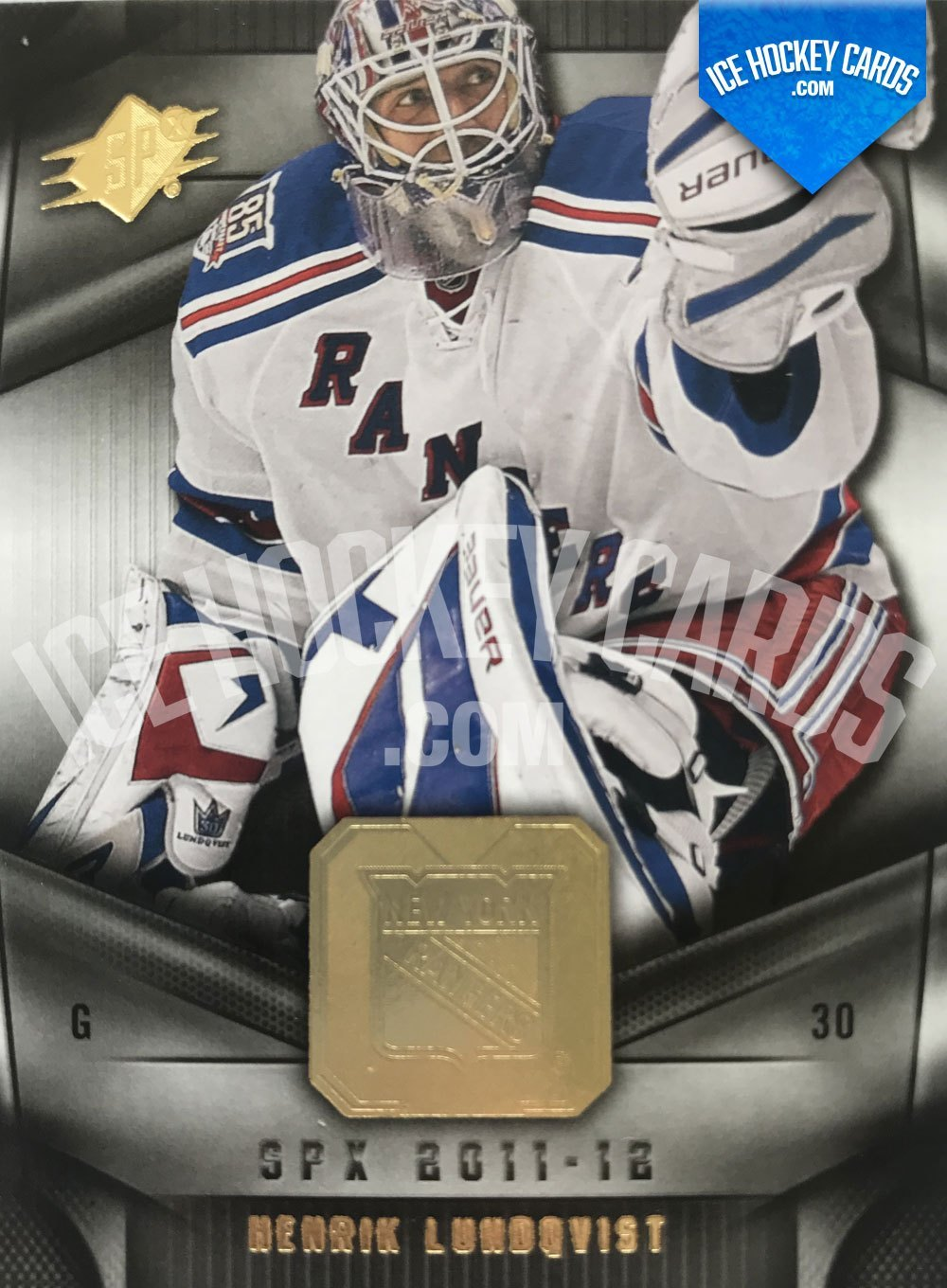 Upper Deck - SPx 11-12 - Henrik Lundqvist Base Card