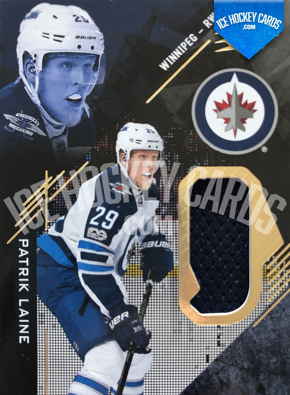 Upper Deck - SPx 17-18 - Patrik Laine Game Used Materials Card