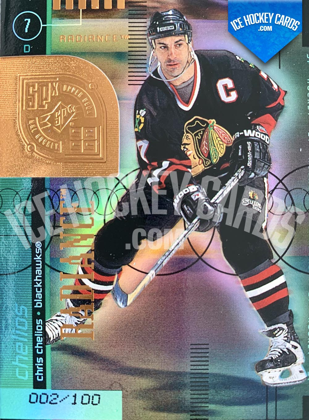 Upper Deck - SPx 1999-20 - Chris Chelios Radiance Card # to 100