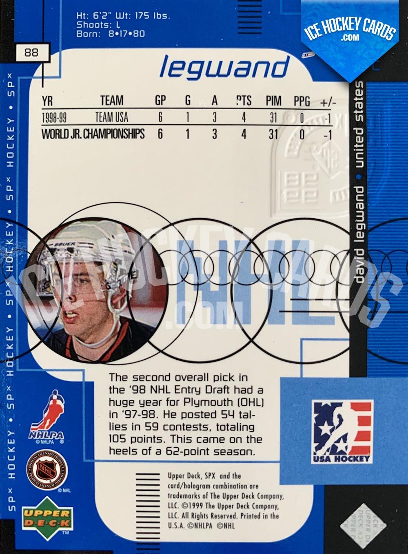 Upper Deck - SPx 1999-20 - David Legwand Rookie Card back