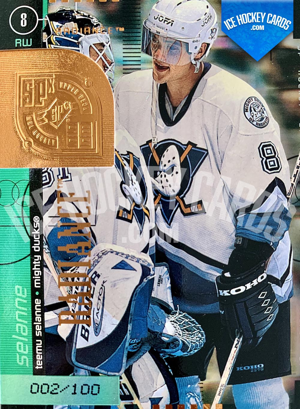 Upper Deck - SPx 1999-20 - Teemu Selanne Radiance Card # to 100