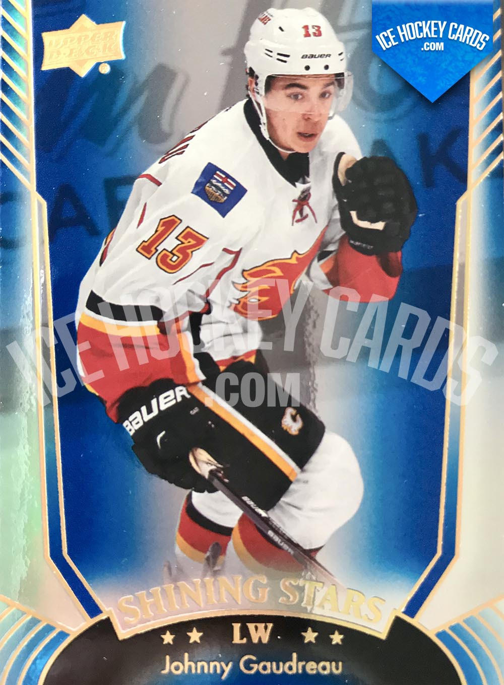 Upper Deck - Series 1 2016-17 - Johnny Gaudreau Shining Stars Blue Card
