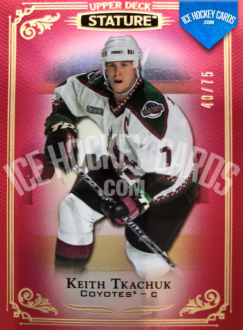 Upper Deck - Stature 2019-20 - Keith Tkachuk Red Base Card # to 75