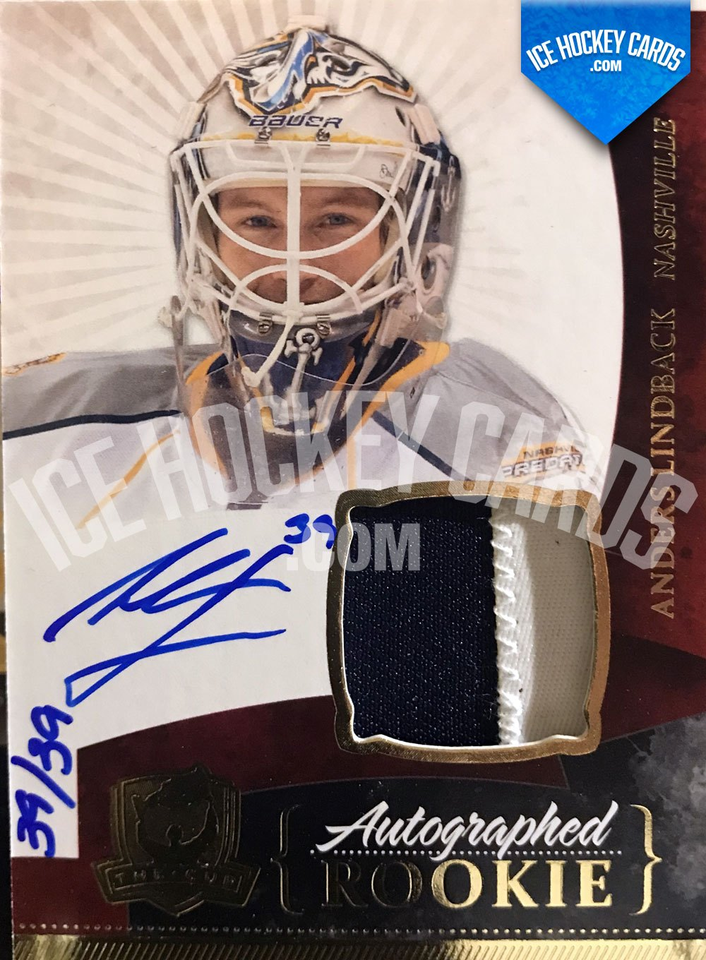 Upper Deck - The Cup 10-11 - Anders Lindback Auto Patch Rookie