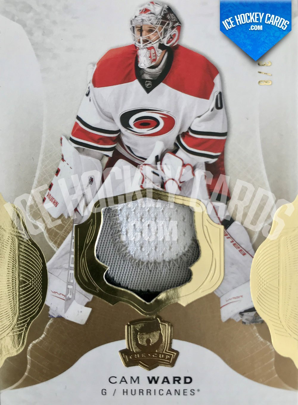 Upper Deck - The Cup 2016-17 - Cam Ward Premium Patch Card # to 8 RARE