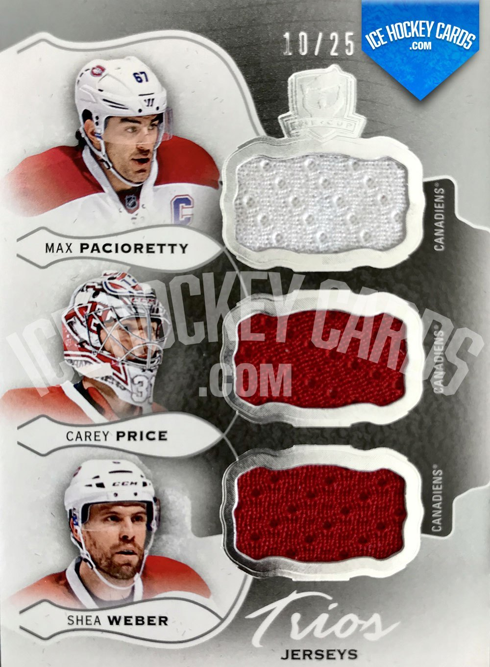 Upper Deck - The Cup 2016-17 - Trios Jerseys - Max Pacioretty, Carey Price, Shea Weber Patch Card # to 25