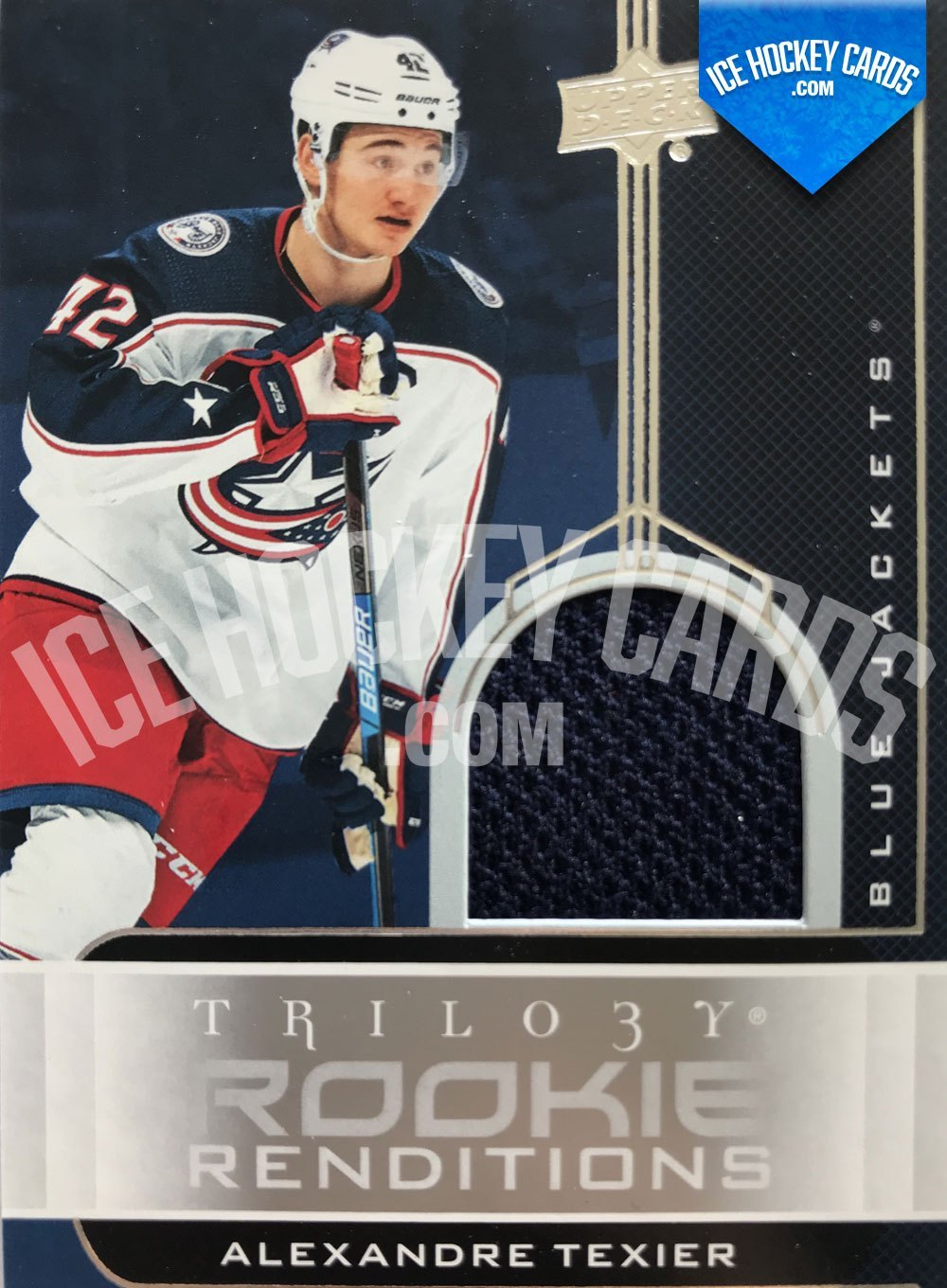 Upper Deck - Trilogy 19-20 - Alexandre Teixier Rookie Renditions Patch